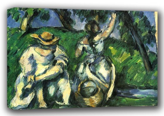 Cezanne, Paul: The Fruit Pickers. Fine Art Canvas. Sizes: A3/A2/A1 (001023)